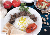 Studio Photography of Middle Eastern Beef Platter