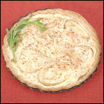 Digital Photography of Onion Cheese Tart